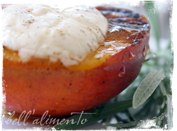 Grilled Peaches and Cream | bell' alimento