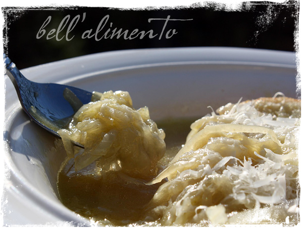 Carabaccia {Tuscan Onion Soup}  a COOKBOOK GIVEAWAY ! bell