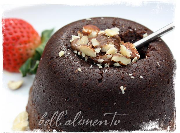 Chocolate Nutella Molten Lava Cake