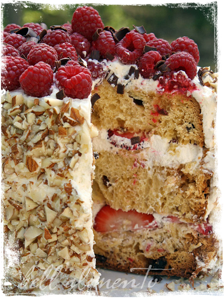 Jamie Olivers Cheats Sponge Cake wSummer Berries Cream bell