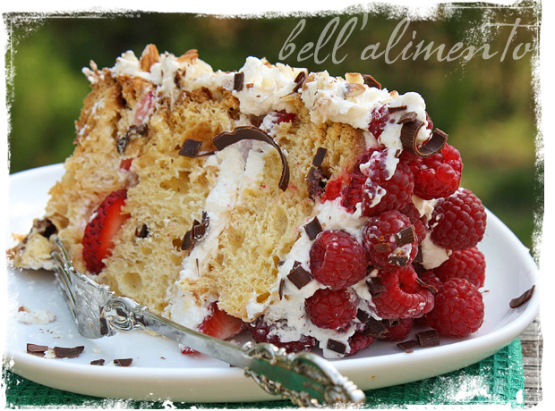 Jamie Olivers Cheats Sponge Cake wSummer Berries Cream bell