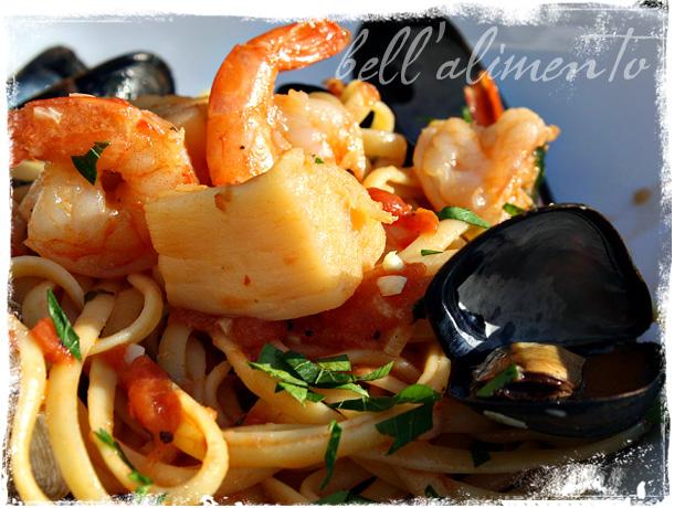 Linguine ai Frutti di Mare {Seafood Linguine}