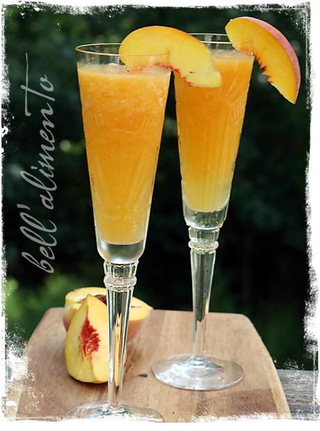 Bellini Surgelato {Frozen Peach Bellini}.