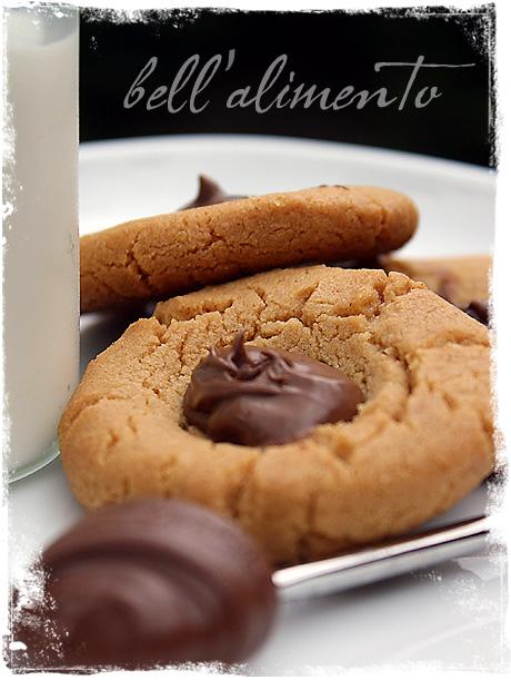 Gluten Free Peanut Butter & Nutella Thumbprint Cookies