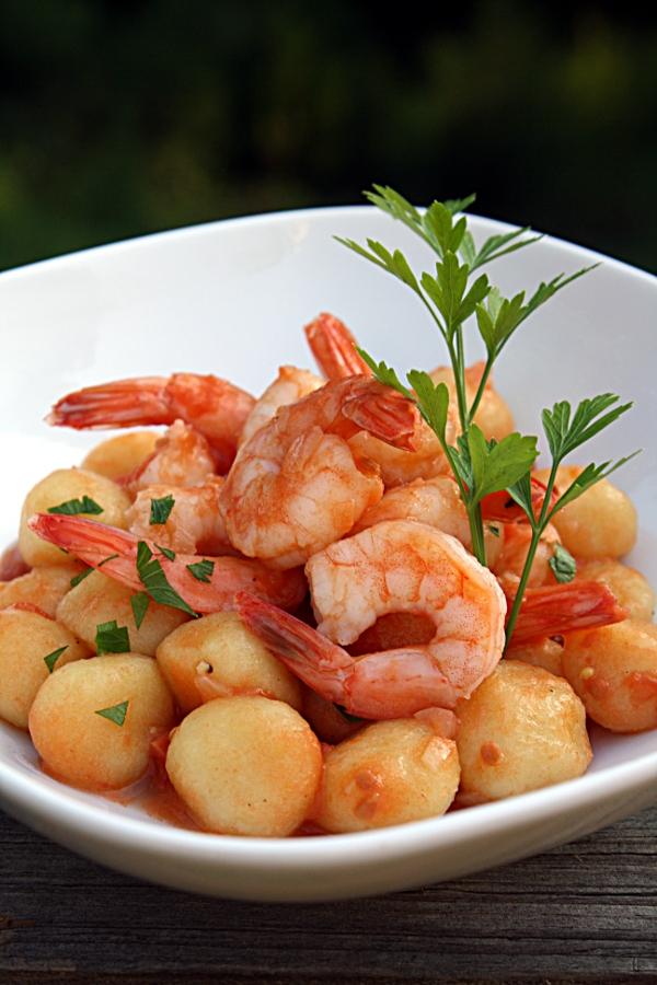 Gnocchi Con Scampi Gnocchi With Shrimp Bell Alimento