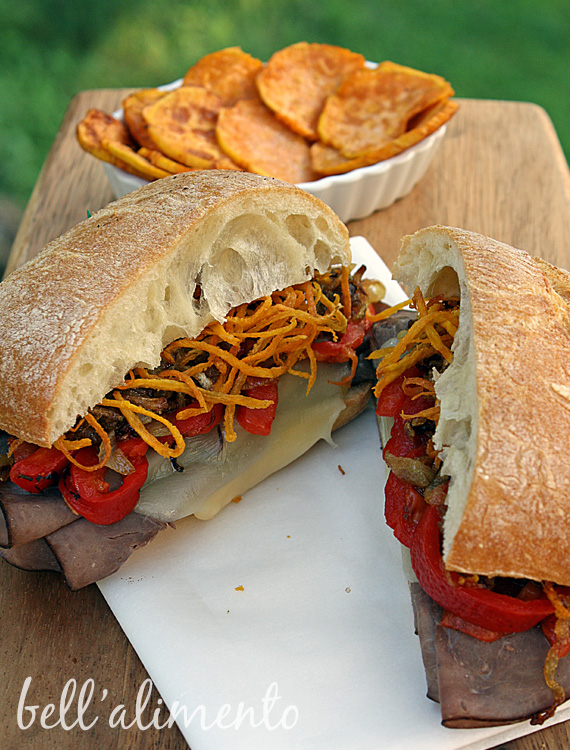 served these sandwiches with some additional fried sweet potato ...
