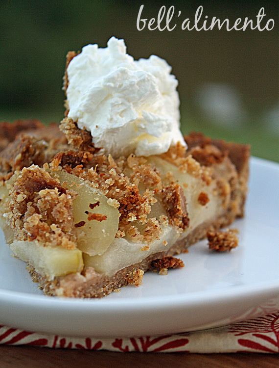 Torta di Mele {Apple Torte with Breadcrumb-Hazelnut Crust}