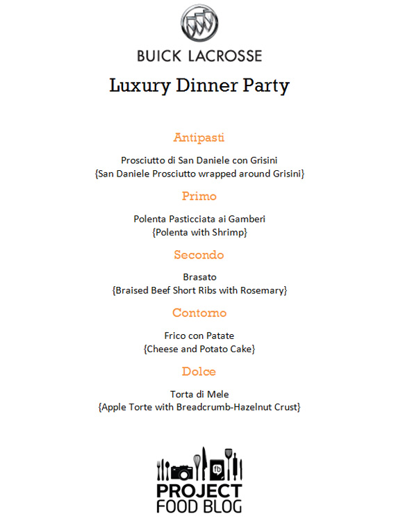 Menus For Dinner Party
