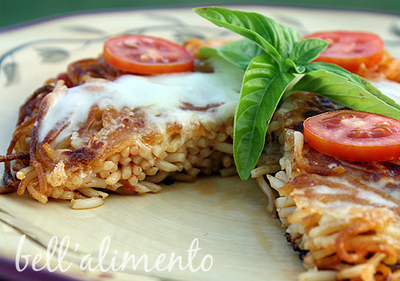 Fried Spaghetti Pizza | bell' alimento