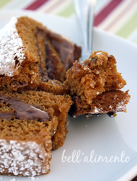 Gluten Free Pumpkin Roll with Mascarpone and Nutella Filling