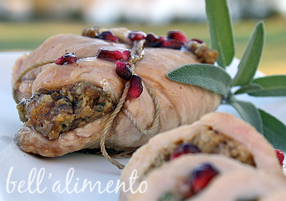 Stuffed Turkey Breast w/Pomegranate Glaze