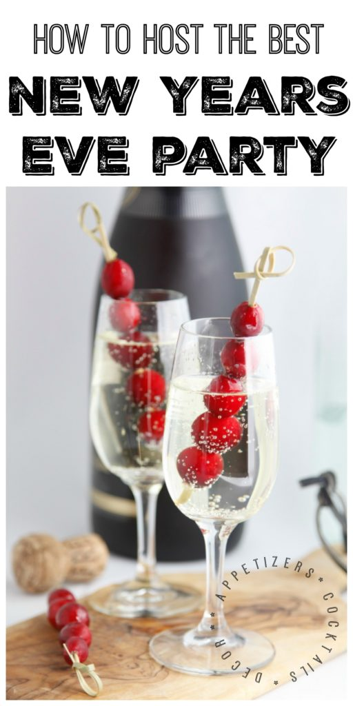 All the appetizer and cocktail recipe inspiration you'll need for your New Years Eve Party. Including decor ideas as well. #party #newyearseve #appetizer #cocktails #hostestwithmostest #partyplanning