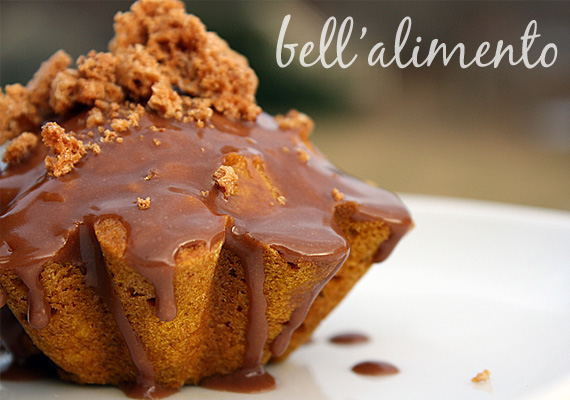 Pumpkin Cakes with Nutella Glaze