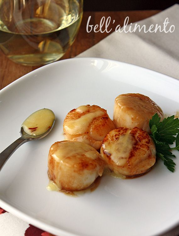 Seared Sea Scallops in Saffron Sauce