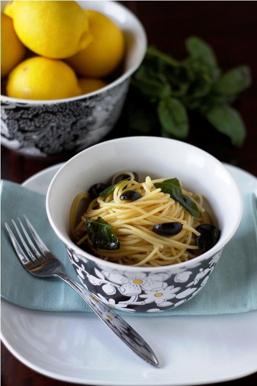 Spaghetti with Olives & Lemon