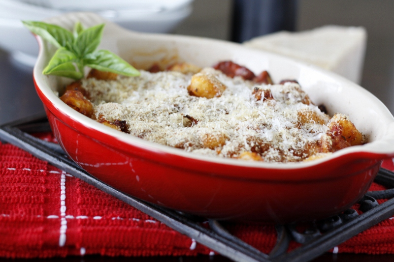 Baked Gnocchi with Two Cheeses | bell' alimento