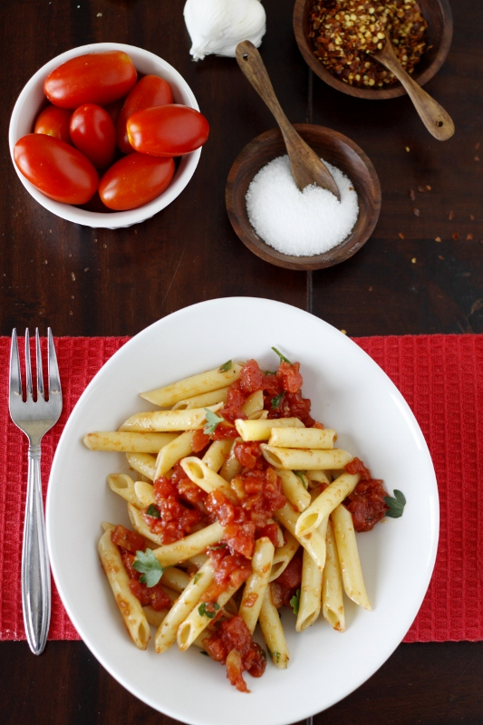 Penne all'arrabbiata (spicy penne pasta) from @Jeanette Lai Thomas ...