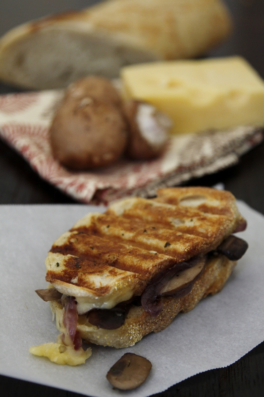 Caramelized Onion, Mushroom & Swiss Panino