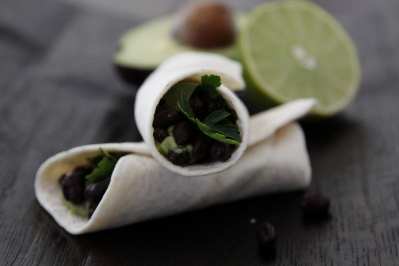 ... to make your own, get the recipe for my SKINNY BLACK BEAN WRAP S