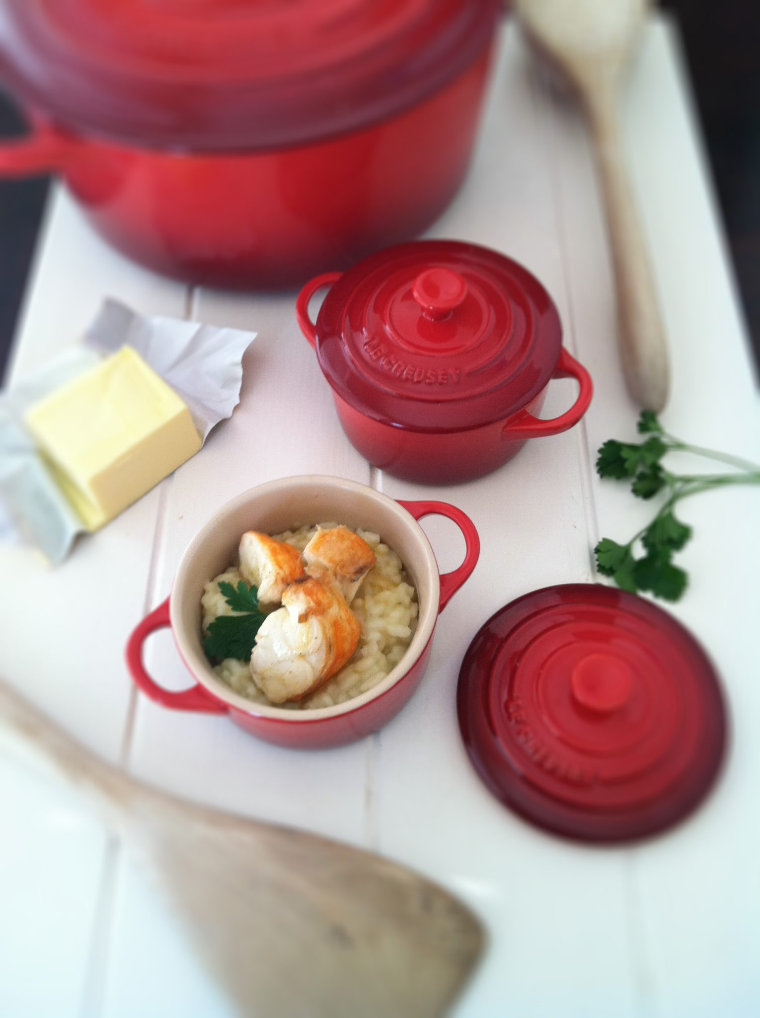 make lobster with summer lobster risotto recipe chow how to make ...