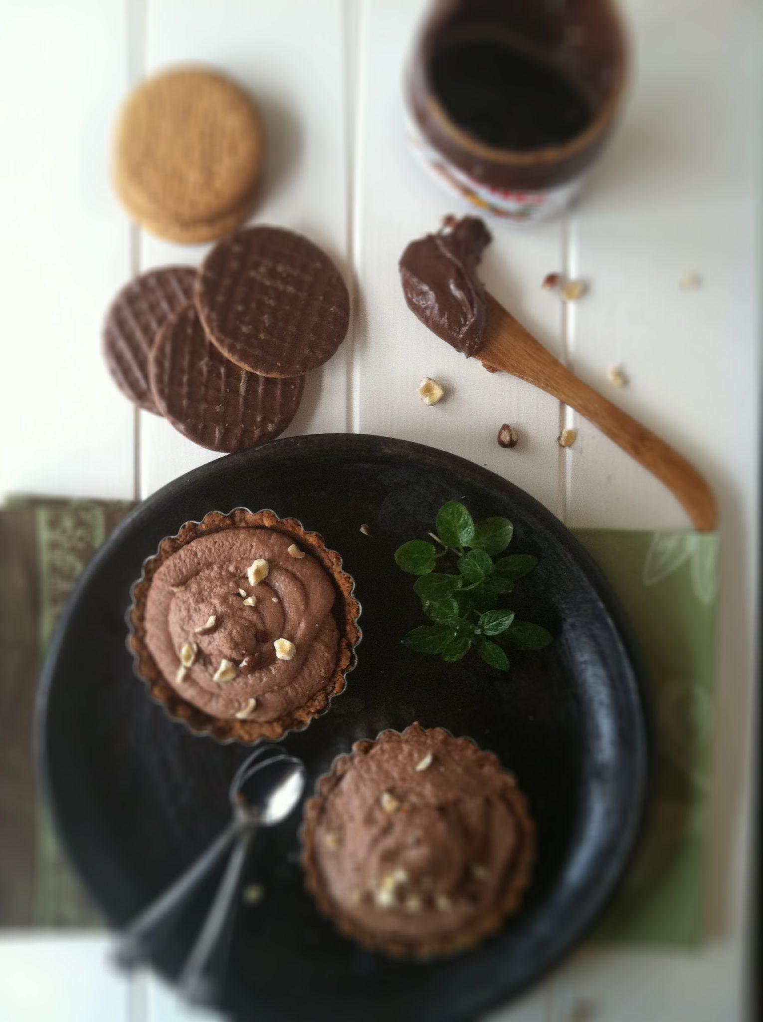 Nutella Mascarpone Chocolate Tarts | bell' alimento
