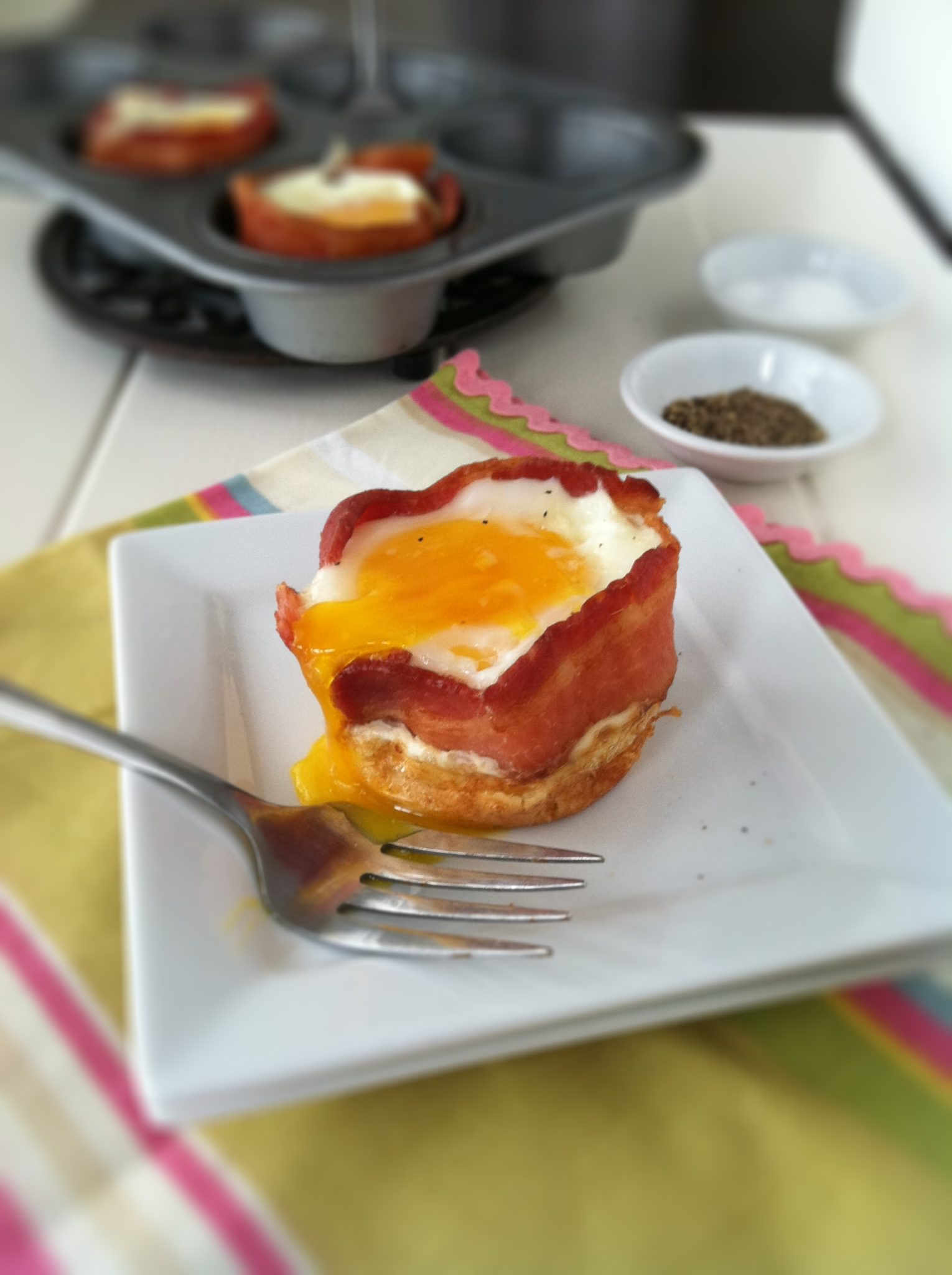 Pancake Bacon And Egg Cups Bell Alimento
