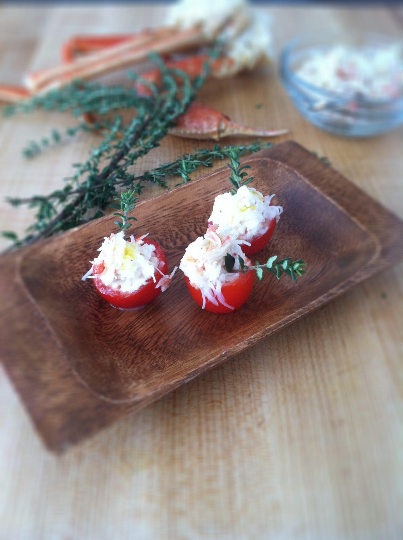 ... cherry tomato clafoutis cherry tomato ragu with polenta crab legs at