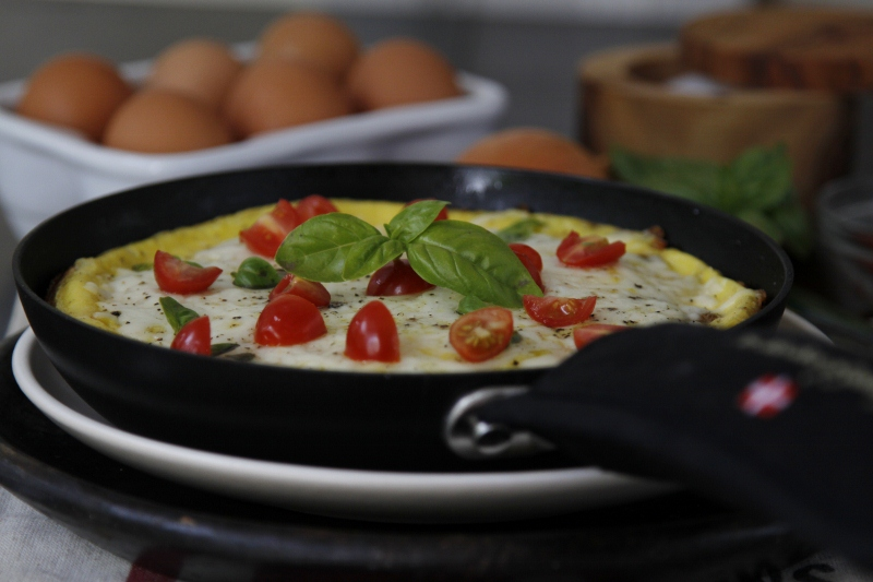 Sausage Basil And Tomato Frittata Recipe — Dishmaps