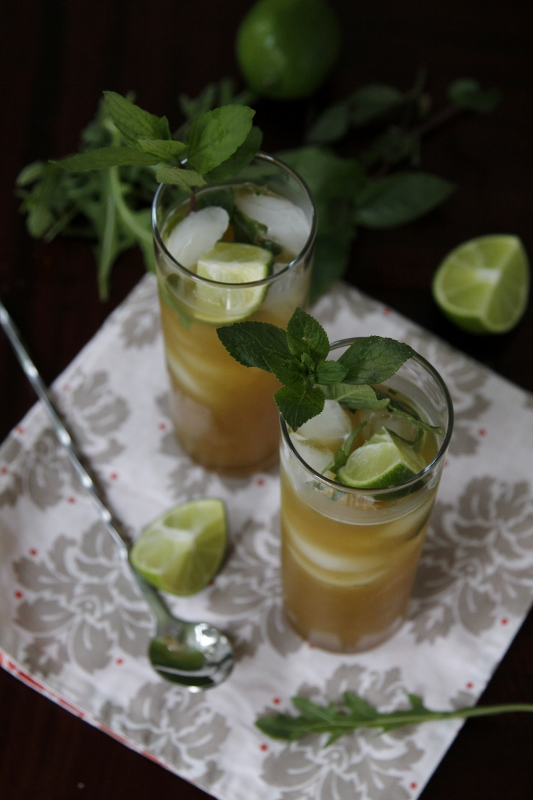 Pineapple Arugula Mint Mojitos | bell' alimento