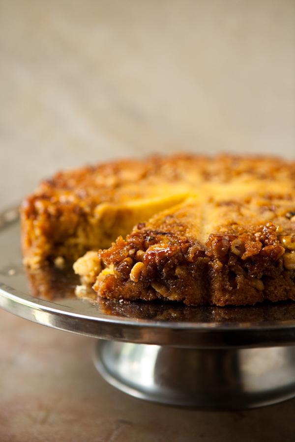 Angie's Bourbon Walnut Cornmeal Cake