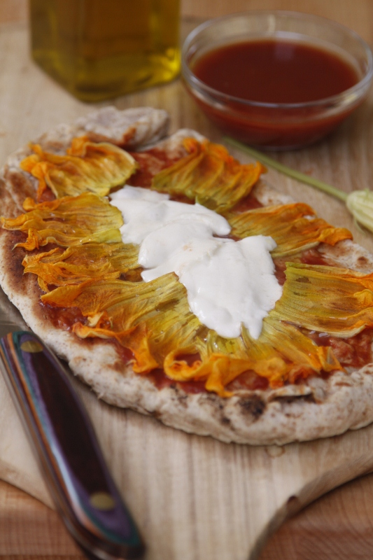 Grilled Squash Blossom Pizza | bell' alimento