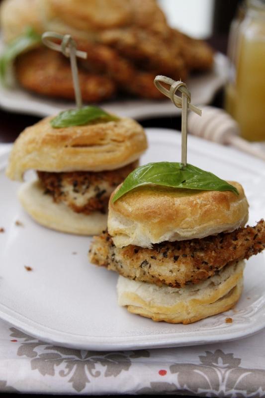 Parmigiano Panko Chicken Honey Biscuits | bell' alimento