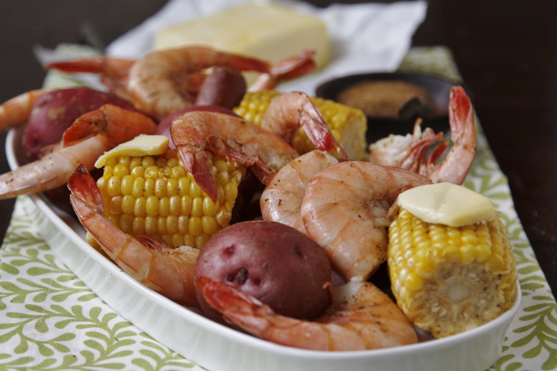 Low Country Seafood Bake - bell' alimento | bell' alimento