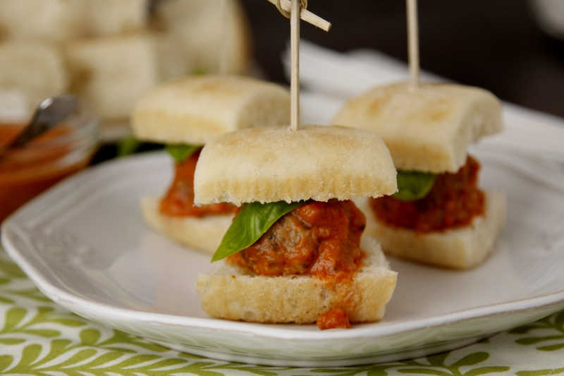 Slow Cooker Mini Meatball Sliders