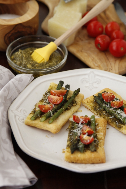 Asparagus Parmigiano Puffs   bell' alimento