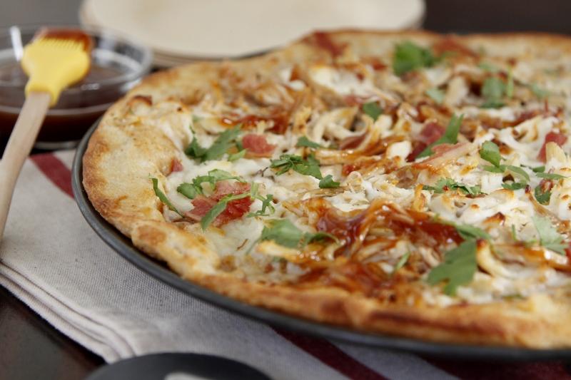 Leftover Buffalo Turkey Pizza
