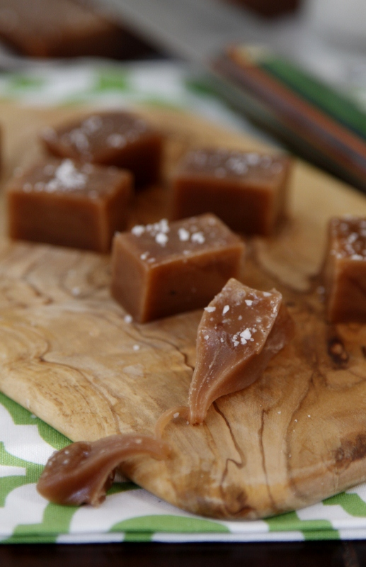 Nutella Sea Salt Caramels Recipe — Dishmaps