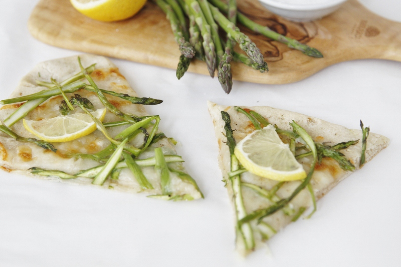 Shaved Asparagus and Lemon Pizza