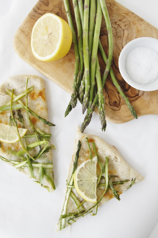 Shaved Asparagus and Lemon Pizza | bell' alimento