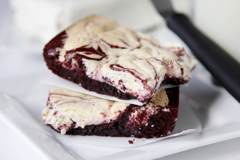 Christmas Cream Cheese Brownies - bell' alimento | bell ...