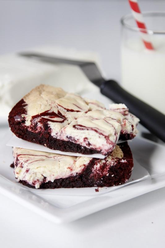 Christmas Cream Cheese Brownies Recipe — Dishmaps