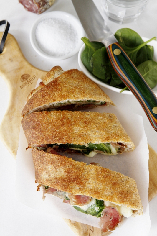 Salami and Spinach Stromboli - bell' alimento | bell' alimento