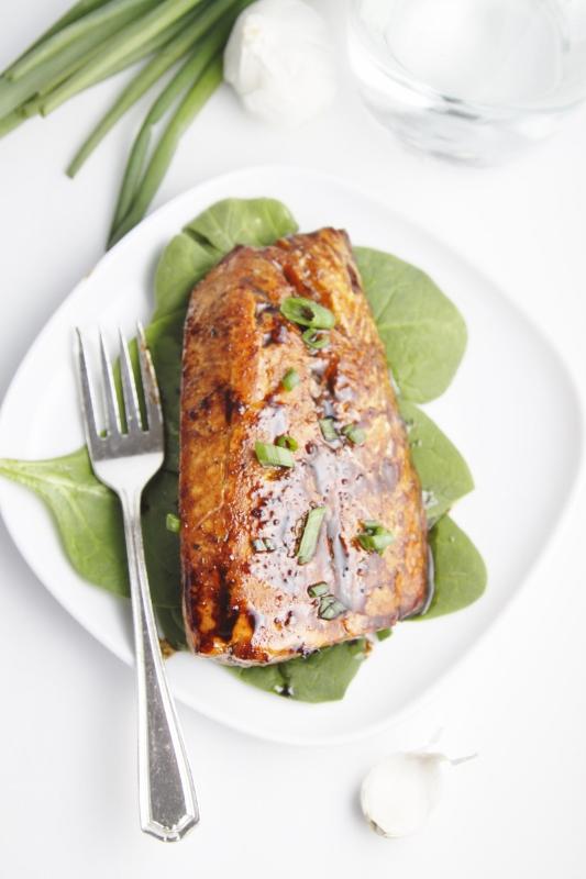 Balsamic and Raisin Glazed Salmon - bell' alimento | bell ...