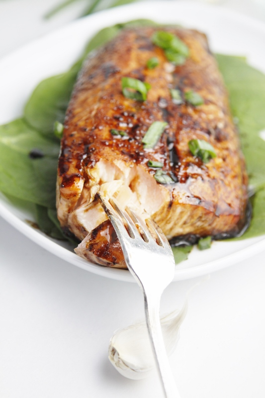 Balsamic and Raisin Glazed Salmon | bell' alimento