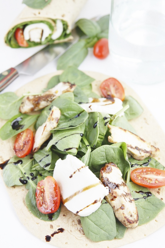 Grilled Chicken Caprese Wraps