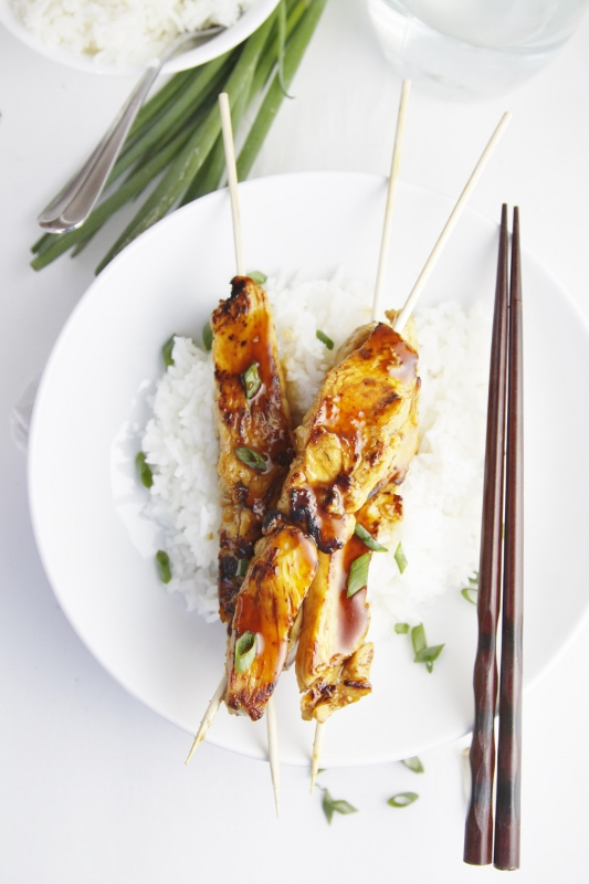 Chicken Yakitori with Rice