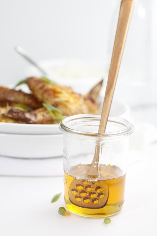 Crispy Honey Ranch Chicken Wings