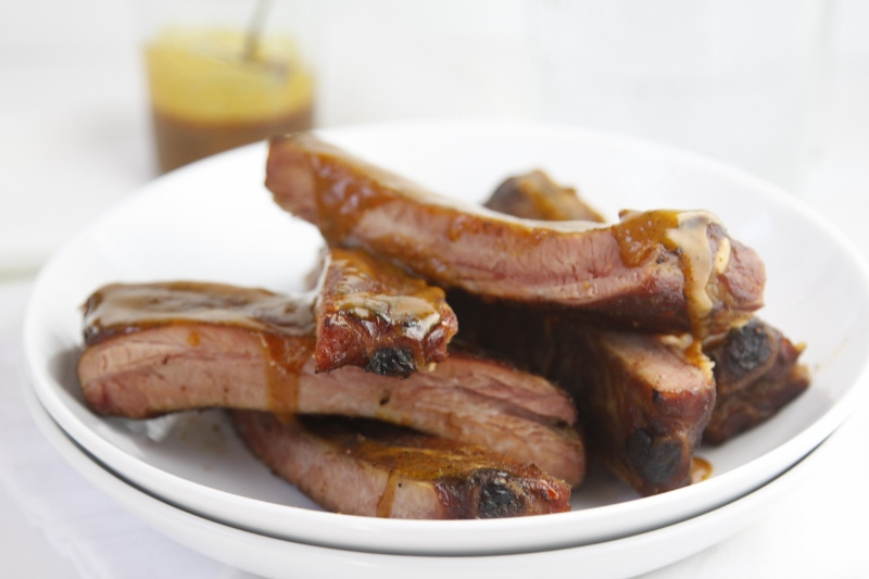 Smoked Ribs with Sweet Carolina BBQ Sauce