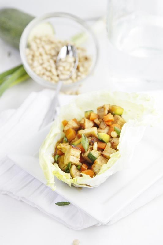 Chicken Lettuce Wraps #recipe