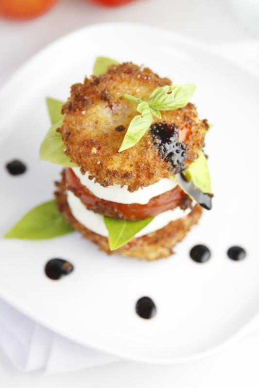 Fried Caprese Salad #recipe